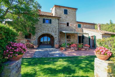 TUSCANY: LUXURY VILLA WITH PANORAMIC VIEW AND TENNIS COURT FOR SALE, AREZZO, POOL, OLIVE GROVE, PANORAMA, 5 HA, FARMHOUSE, RESTORED COUNTRY HOUSE, LUXURY VILLA