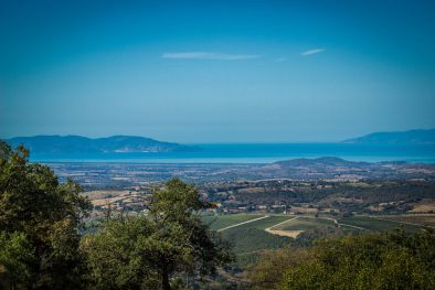 SCANSANO, TUSCANY: FARMHOUSE WITH SEA VIEW FOR SALE, GROSSETO, PANORAMIC VIEW, GARDEN, VILLA, COUNTRYSIDE