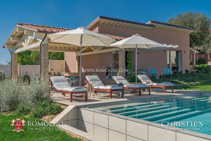 MODERN ECO-FRIENDLY VILLA WITH OLIVE GROVE FOR SALE TUSCANY